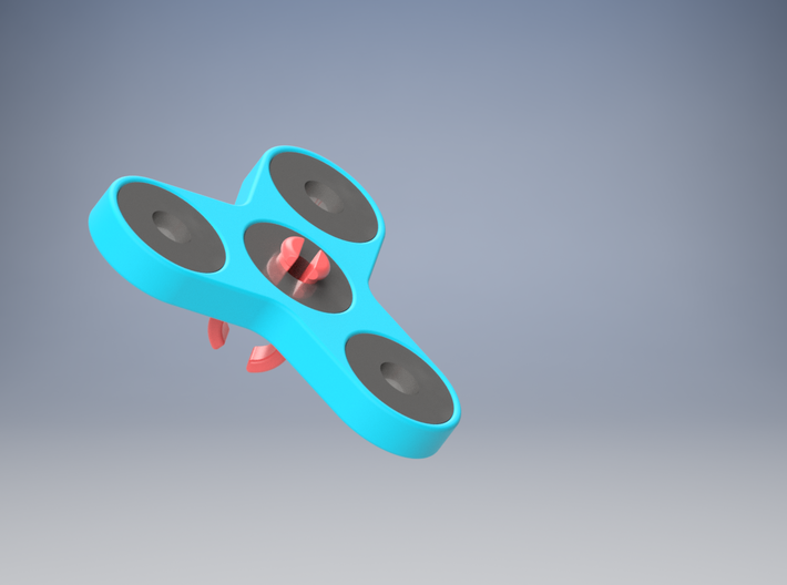 FIDGET SPINNER RING MOUNT (LARGE) 3d printed How it is used. Its easy!