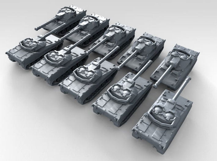 1/600 US Rapid Deployment Force Light Tank x10 3d printed 3d render showing product detail