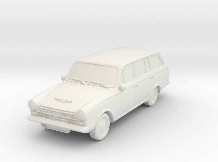 1-87 Ford Cortina Mk1 Estate Wheels Attached 3d printed