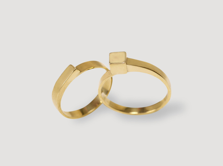 Staccato Ring 3d printed