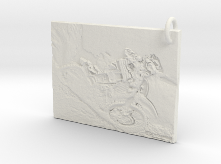 Dirt bike Pendant 3d printed