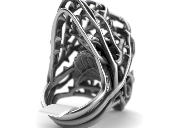 Dangerous Heavy - Sterling Silver Ring 3d printed Aged silver option here: https://shop.pj3dartist.com/collections/jewelry/products/dangerous-heavy-detailed-rose