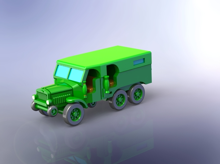 French Laffly S20TL Dragoon Truck (Closed) 1/285 3d printed