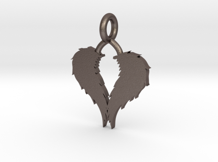Wings Pendant 3d printed