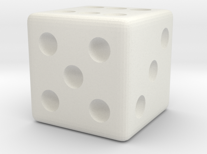 Weighted Dice (Favors a Roll of 6) 3d printed