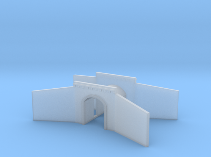 Tunnel portal single track - T scale 1:450 3d printed