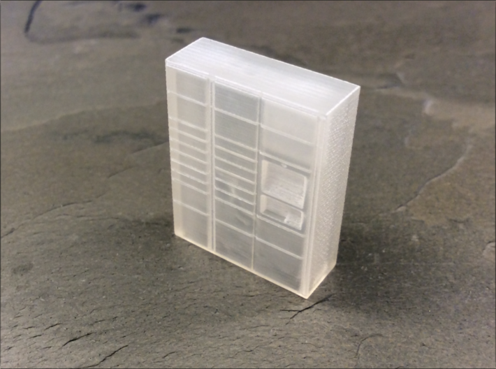 OO Gauge (1/76) Click and Collect Locker Small 3d printed As received