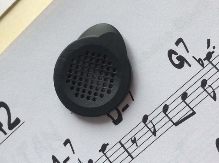 Gipsy Jazz Guitar Pick 3d printed The top side with holes for good thumb grip