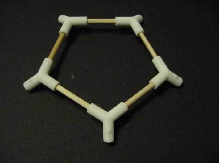 Buckeyball Hub 3d printed This is one of the twelve pentagonal subassemblies