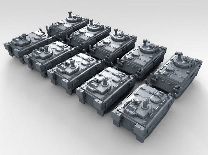 1/700 British FV438 Swingfire ATV x10 3d printed 3d render showing product detail