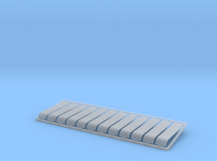 HO 12x10ft Bullnose Corrugated Iron Sheets 3d printed