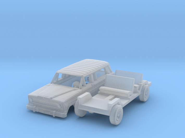 Jeep Cherokee (N 1:160) 3d printed