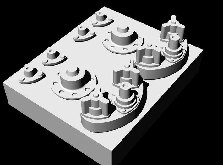 1/32 German Syncho Mechanism for Mercedes 3d printed