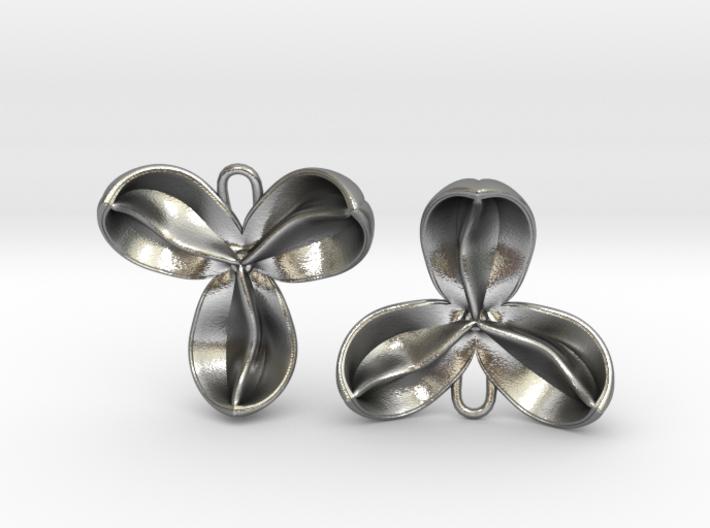 Carrotwood Pod Earrings 3d printed