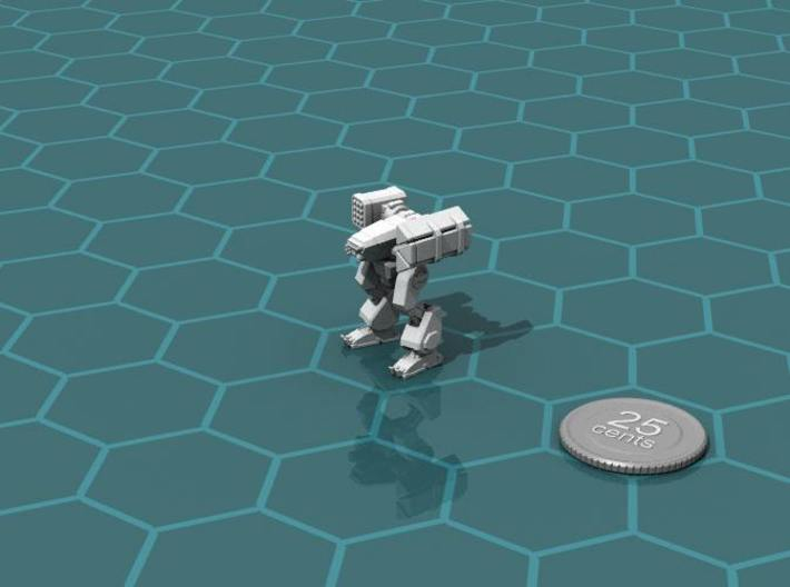 Terran Missile Walker 3d printed Render of the model, with a virtual quarter for scale.