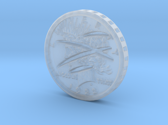 Two-Faced (one scarred) Silver Dollar 1:6 Scale 3d printed