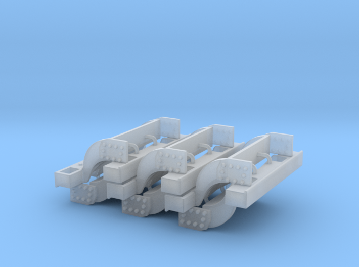 (6) GREEN 4WD WEIGHT BRACKETS 3d printed