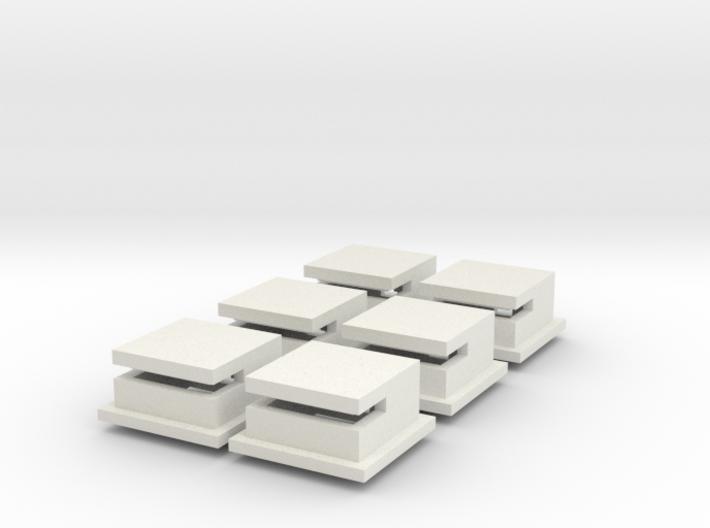 1/285 Omaha Beach Block House Set Of 6 3d printed