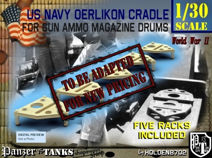 1-30 Oerlikon Magazine Cradle Set1 3d printed