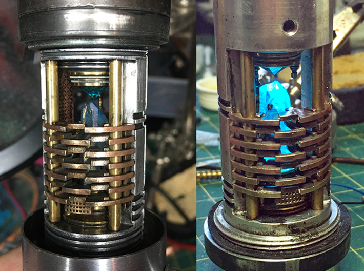 Heat Sink Fins for Rudy's Crystal Chamber 3d printed Installed on modified and weathered chamber