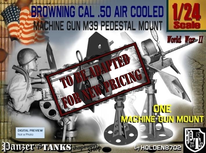 1/24 Cal 50 Pedestal Mount M39 3d printed