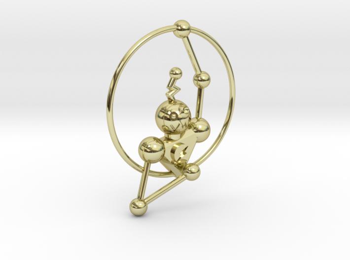 Steampunk Robot Pendant 3d printed