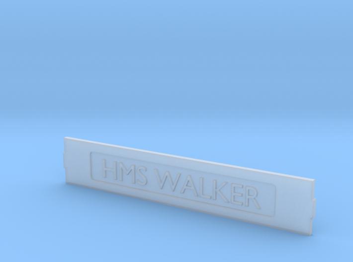 HMS Walker Name Plate 3d printed