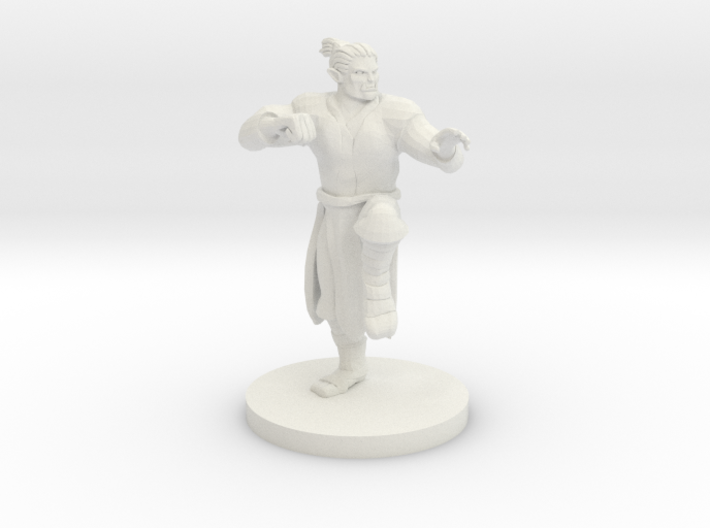 Half Orc Male Monk 3d printed