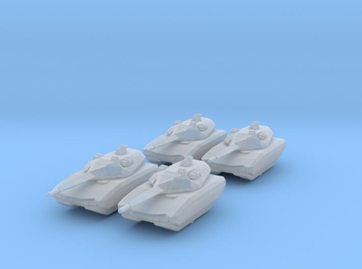 1/285 (6mm) Polish PL-01 Light Tank Prototype x4 3d printed 1/285 (6mm) Polish PL-01 Light Tank Prototype x4