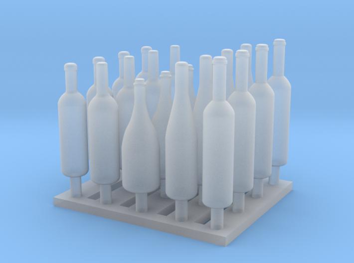120mm or 1/15 Assorted Wine Bottles MSP15-001 3d printed