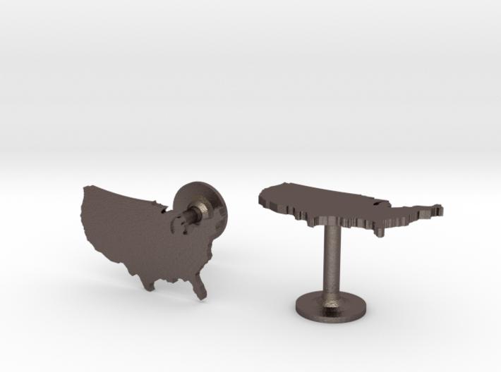 USA Cufflinks 3d printed