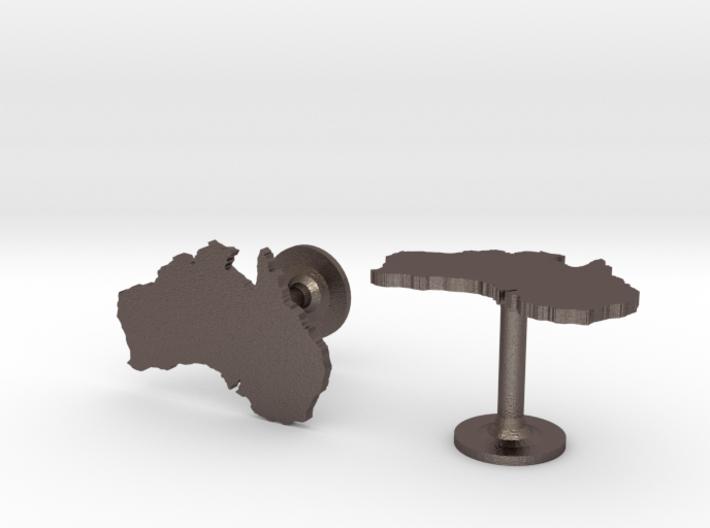 Australia Cufflinks 3d printed