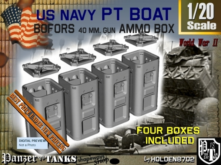 1-20 Bofors Ammo Box Set1 3d printed