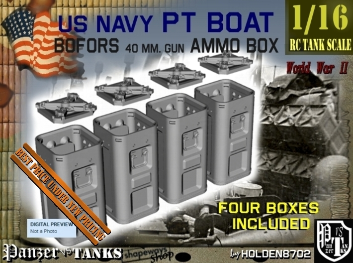 1-16 Bofors Ammo Box Set1 3d printed