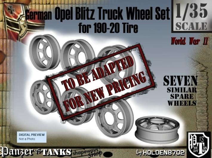 1-35 Opel Blitz 190x20 Empty Wheel Set2 3d printed