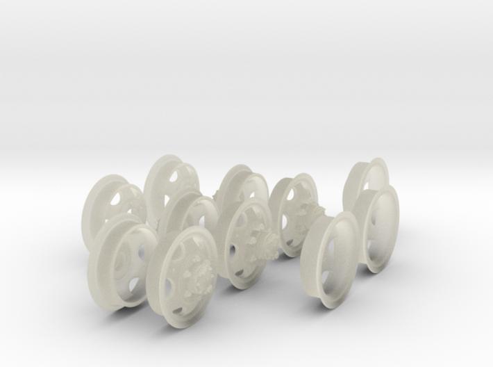1-35 GMC Rims 750x20 Set3 3d printed