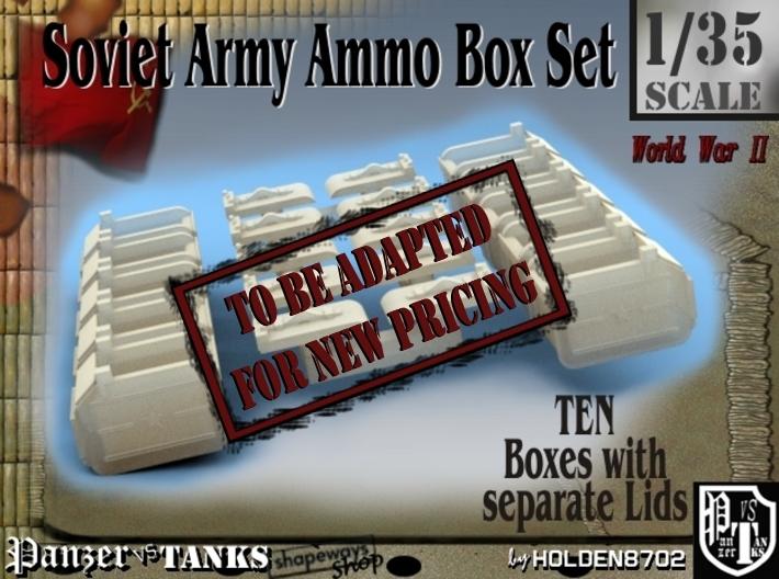 1-35 Soviet Ammo Box Set 3d printed