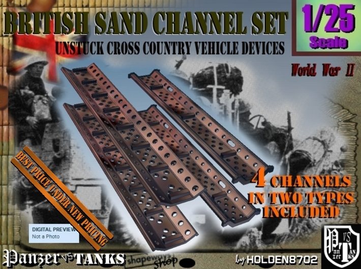 1-25 British Sand Channel Set 3d printed