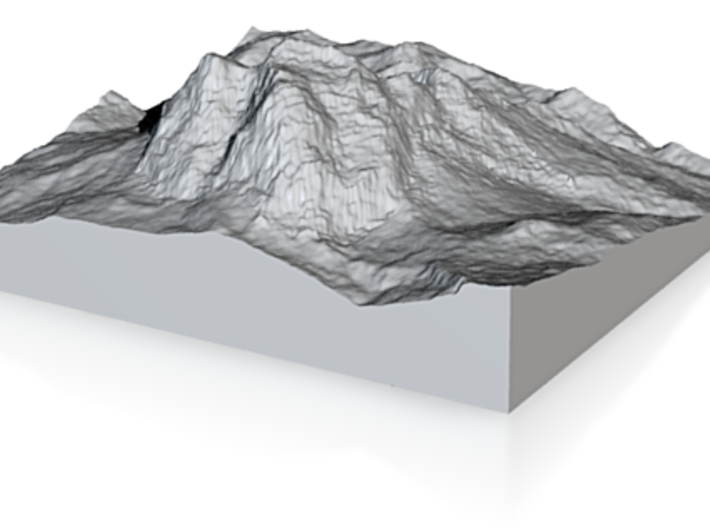 Model of Monte Pelmo 3d printed