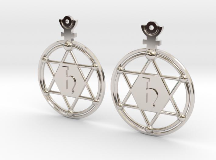 The Saturn (precious metal earrings) 3d printed