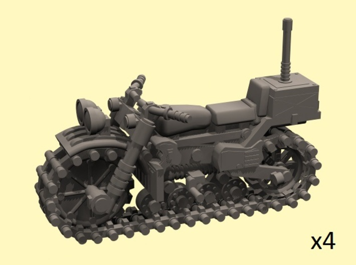 28mm Vezdekhod tracked vehicle (4 pieces) 3d printed