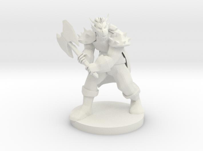 Dragonborn Barbarian 3d printed