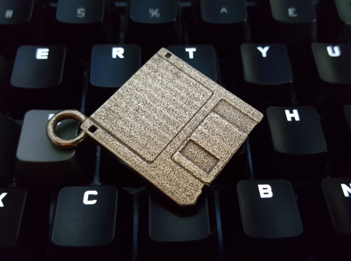 "3.5"" Floppy Disk Pendant / Keychain 3d printed"