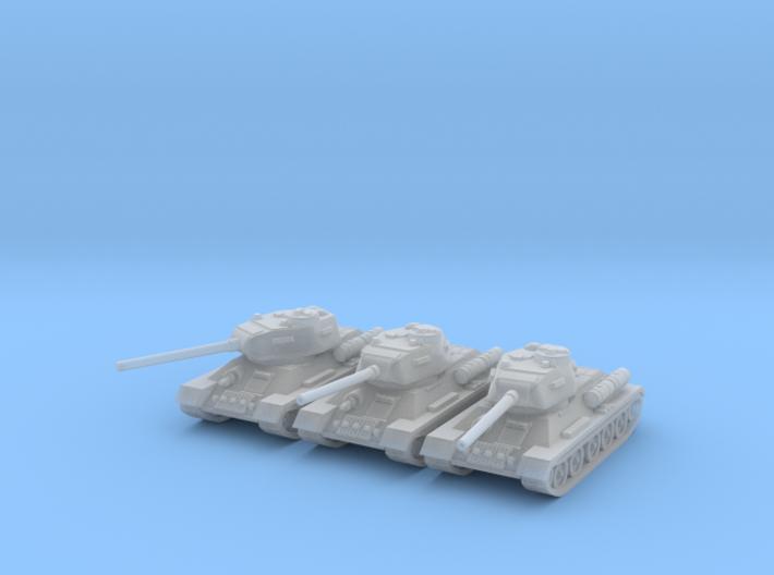 1/160 T-34-85 tank (3) 3d printed