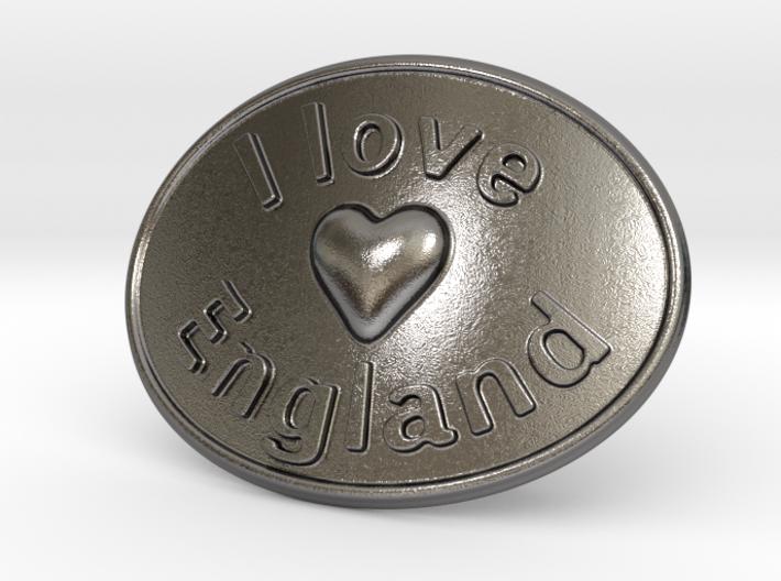 I Love England Belt Buckle 3d printed