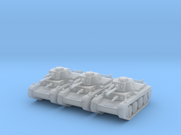1/144 Panzer 38t (3 pieces) 3d printed