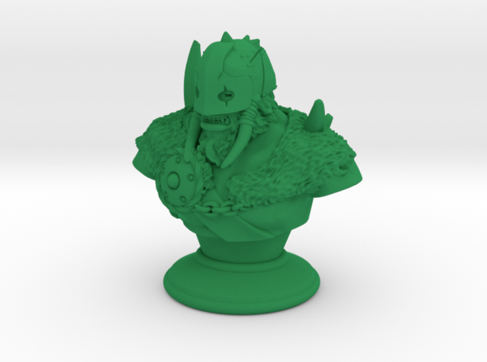 Warrior-Druid Bust 3d printed