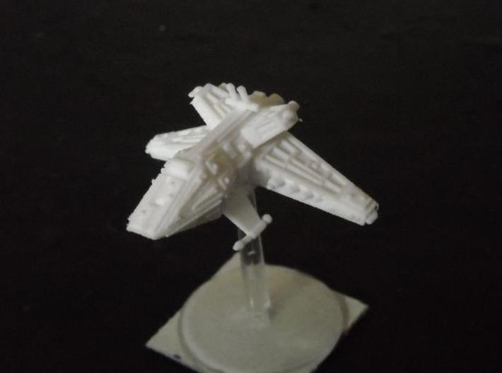VA203 Vicious Meteor Heavy Cruiser 3d printed Model in SWF (on stand)
