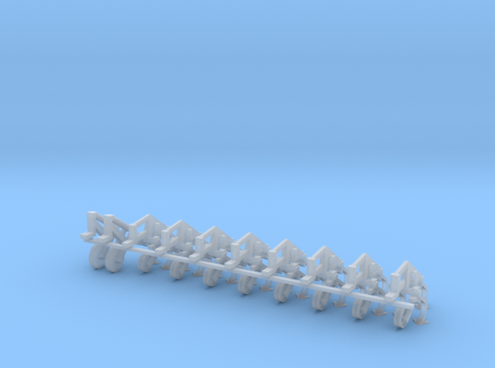 1/64 IH 183 8 Row Cultivator Row Units 3d printed