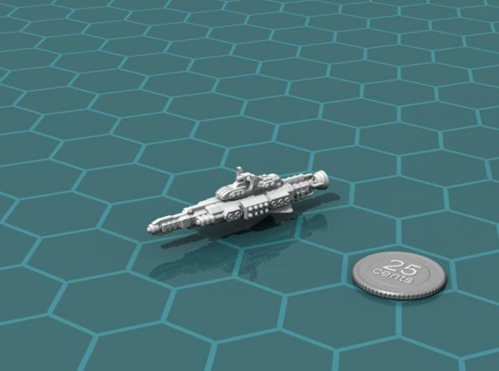 Chukulak Escort 3d printed Render of the model, with a virtual quarter for scale.